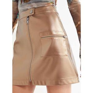 Urban Outfitters Gold Metallic Skirt